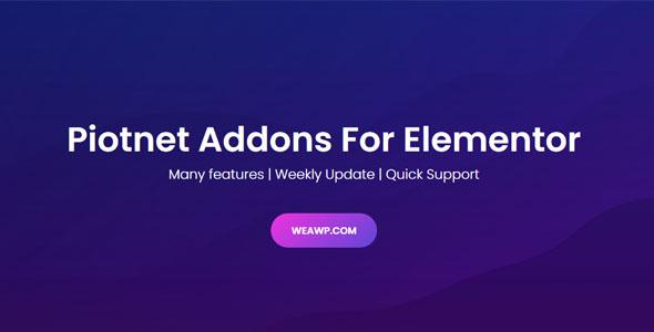 Piotnet Addons Pro For Elementor Pro 6.3.65 Nulled
